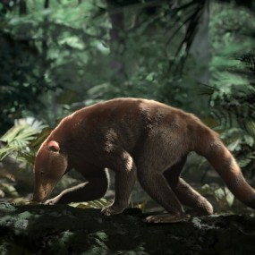 rendering of now extinct mammal