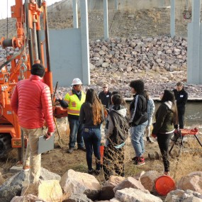 Students tour a Circle Bridge site