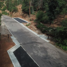 new parking spaces along north cheyenne canyon road