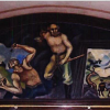 Mural of hard rock miners