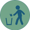 icon dispose of waste properly