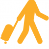 logo of man with suit case