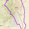 Map showing the boundaries of the Fountain Creek watershed
