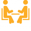graphic of people sitting at a table