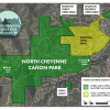 map of the project areas for the north cheyenne canon master plan