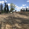 panoramic view of construction at pikes peak and union