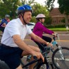 Mayor Suthers Riding with kids