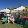 tents set up with arts and crafts for sale