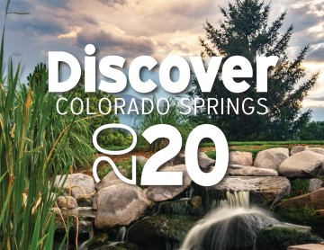 "photo with text that says ""discover colorado springs 2020"""