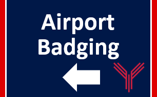 Airport Badging sign