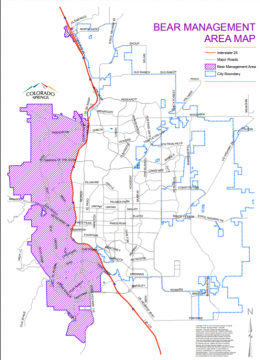 map of ordinance area. area of ordinance includes neighborhoods west of i-25