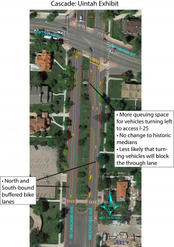 image of new striping plan