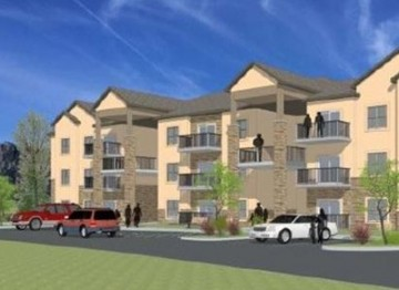 artist rendering of apartment complex