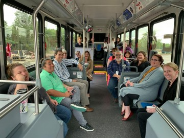 people sitting inside a bus