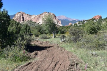 dirt trail in need of repairs