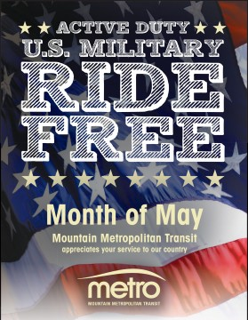 flyer for Military month info