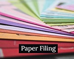 button paper filing