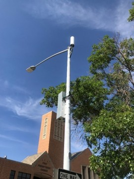 Small cell infrastructure attached to a street light
