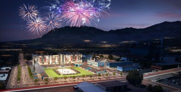 Artist rendering of the downtown stadium