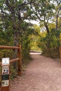 starsmore nature trail during fall