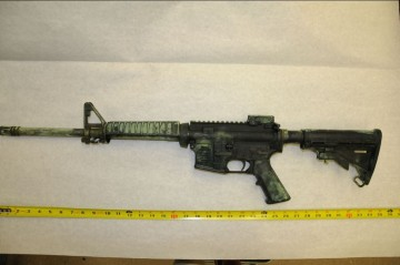 Suspect Rifle after Fingerprinting