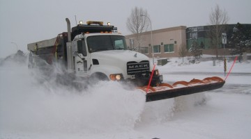 Snow Plow in the Winter