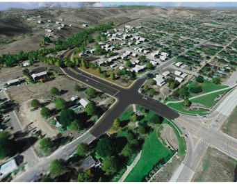 Centennial Landscape rendering aerial view