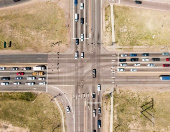 Aerial photo of Academy Boulevard intersection
