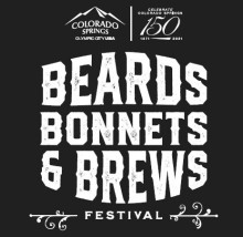 Text Reads Beards Bonnets & Brews Festival