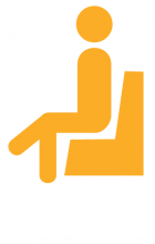graphic of person sitting