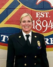 Deputy Chief Jayme McConnellogue, highest ranking woman in CSFD history