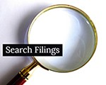 button search filings
