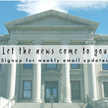 sign up for weekly city news email updates