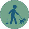 icon dispose of pet waste properly