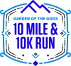 10 mile and 10k run logo