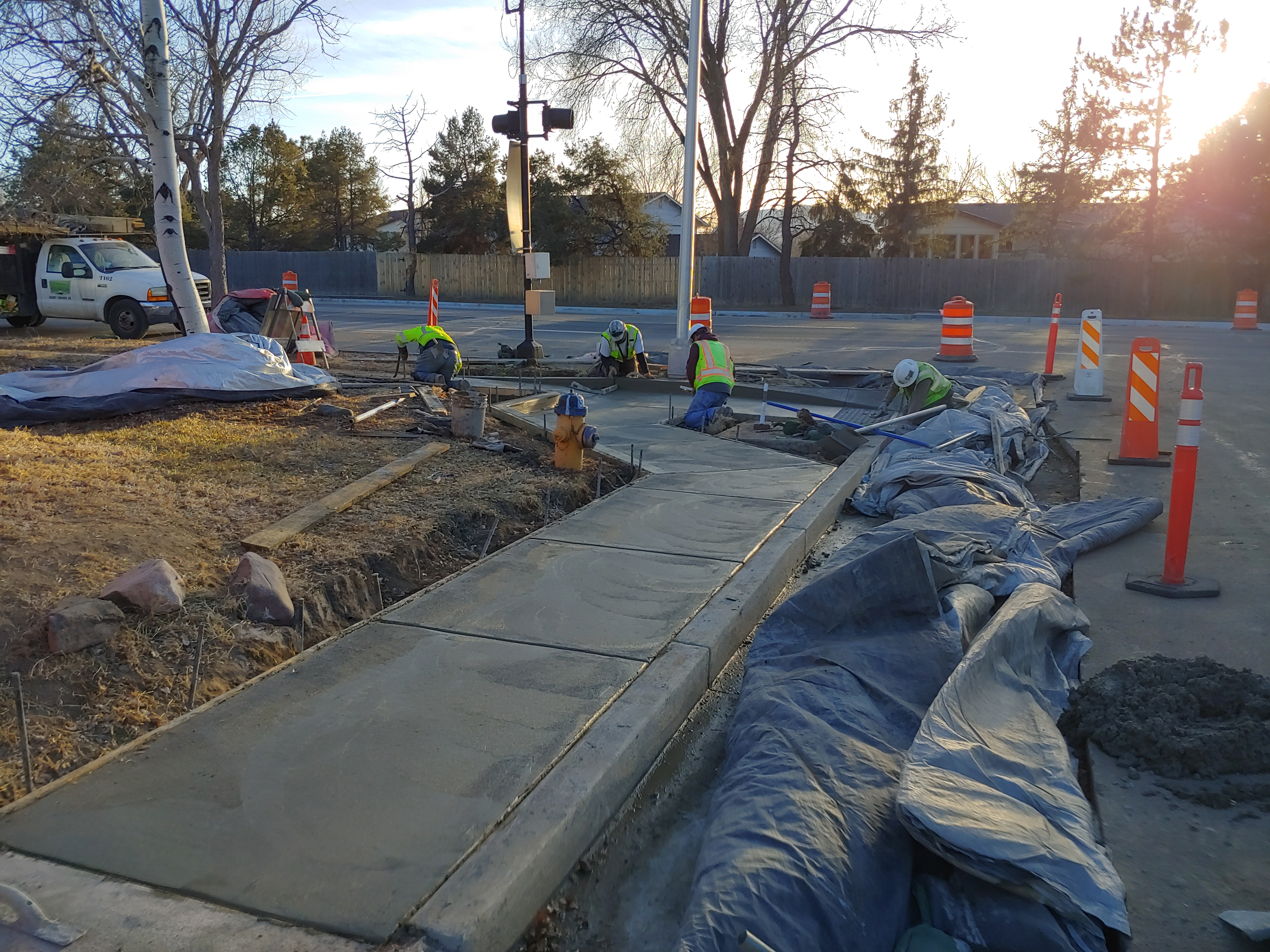 Road construction work on Carefree Circle