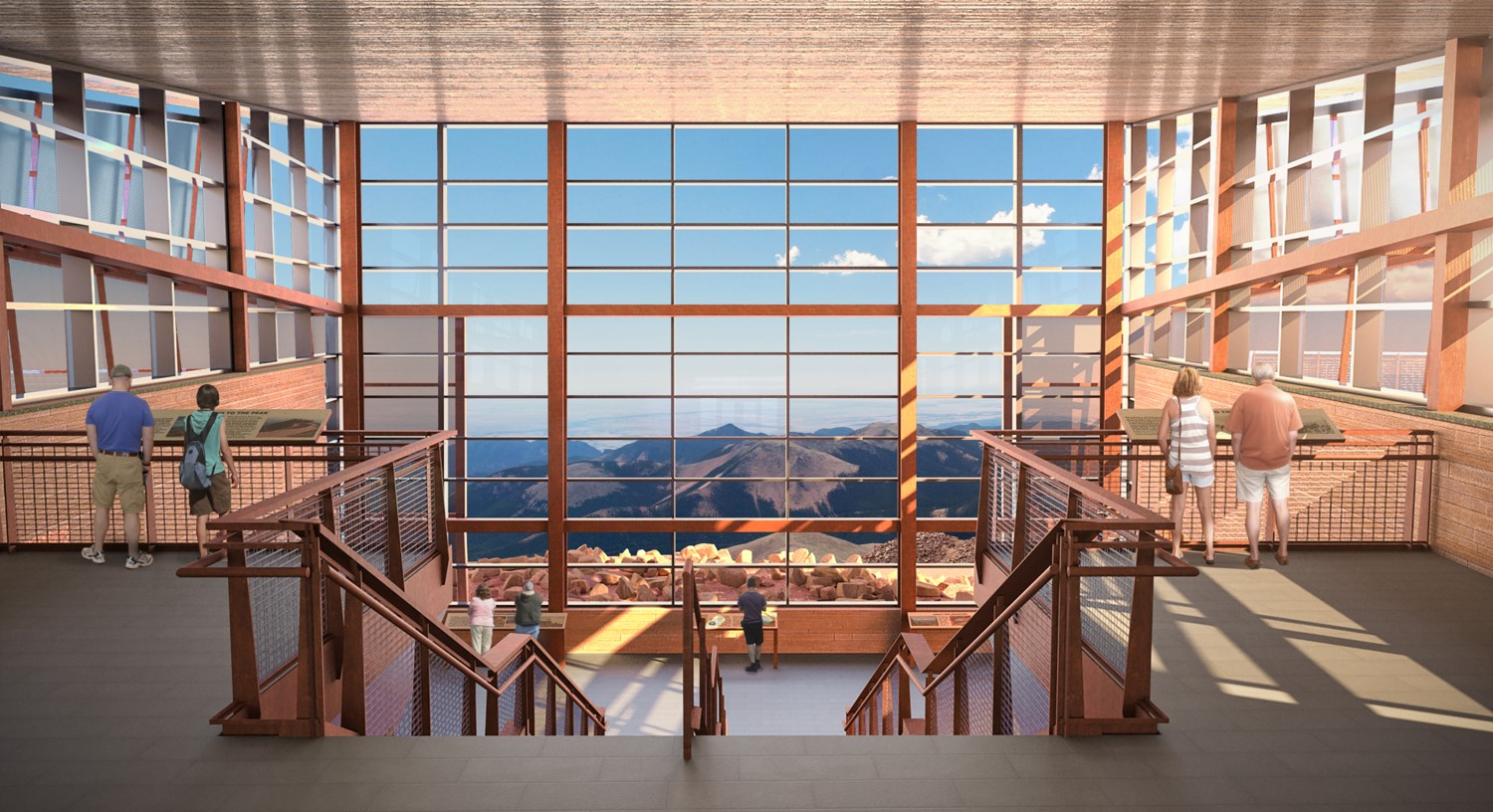 Upper Lobby View to Mt. Rosa rendering