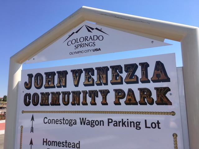 John Venezia Park sign